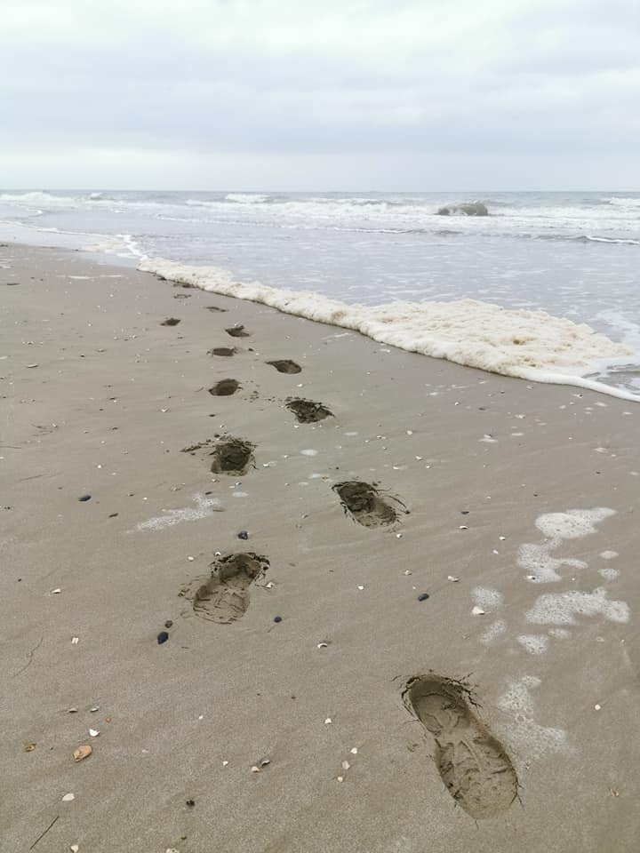 Fodspor ved Utah Beach