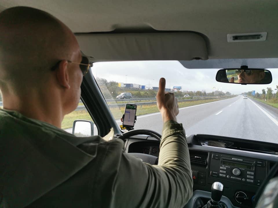 På vej igennem Tyskland - E45