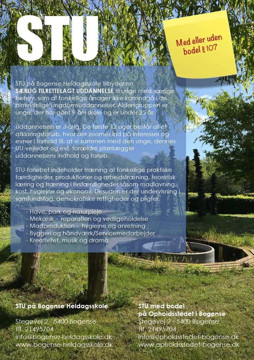STU plakat - Opholdsstedet i Bogense