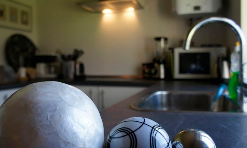 Rum med kombineret køkken